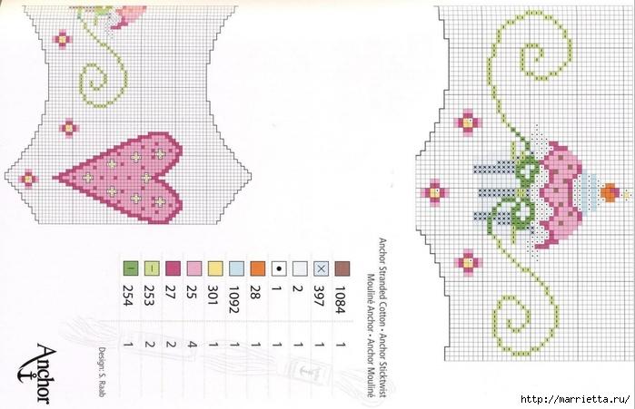 Нежная вышивка для праздничной скатерти. Схемы (5) (700x451, 192Kb)