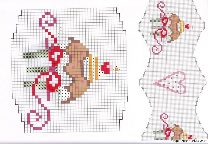 Нежная вышивка для праздничной скатерти. Схемы (6) (700x484, 252Kb)