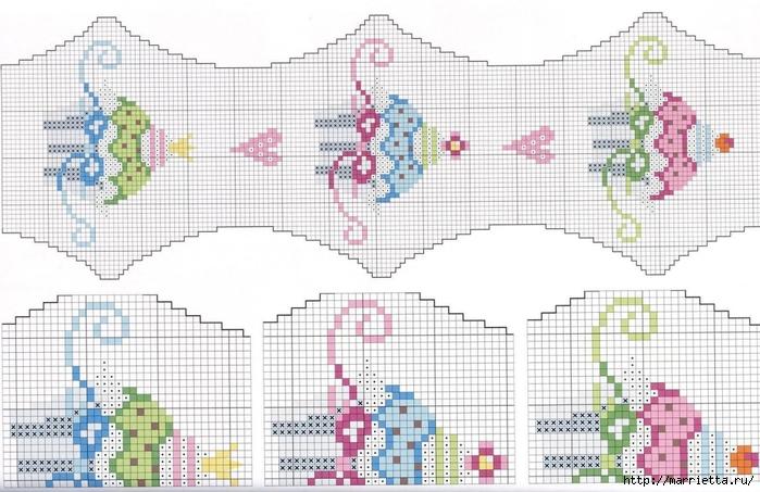 Нежная вышивка для праздничной скатерти. Схемы (8) (700x453, 249Kb)