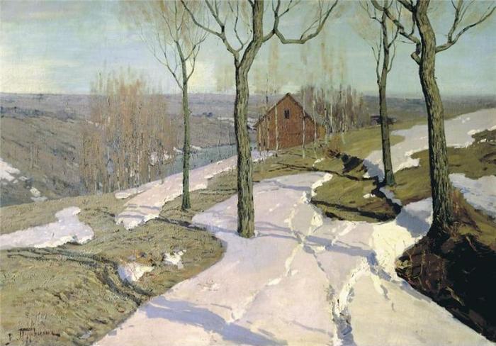Последний снег. 1898 (700x488, 340Kb)