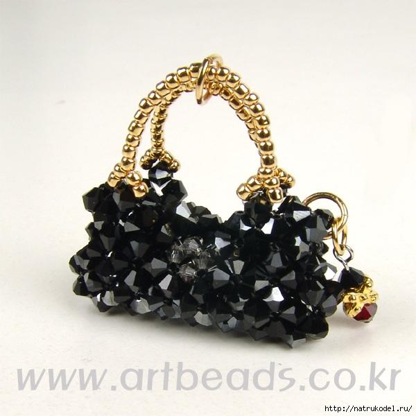 Брелки - сумочки из бисера