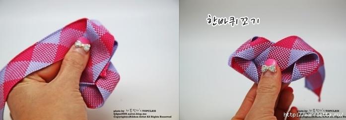 Бантик с розочкой для украшения заколки. Мастер-класс (8) (700x242, 96Kb)