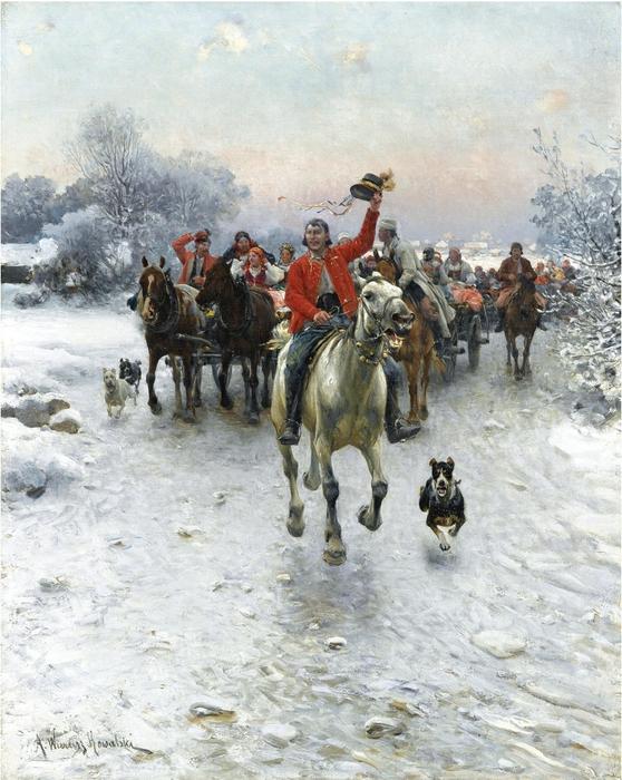 Alfred_Wierusz-Kowalski_-_Orszak_weselny (558x700, 327Kb)