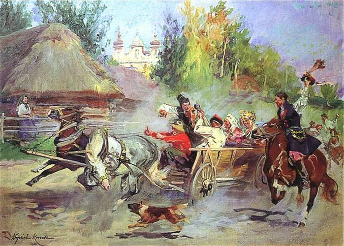 Войцех Коссак Краковская свадьба 1940 г. (700x500, 87Kb)