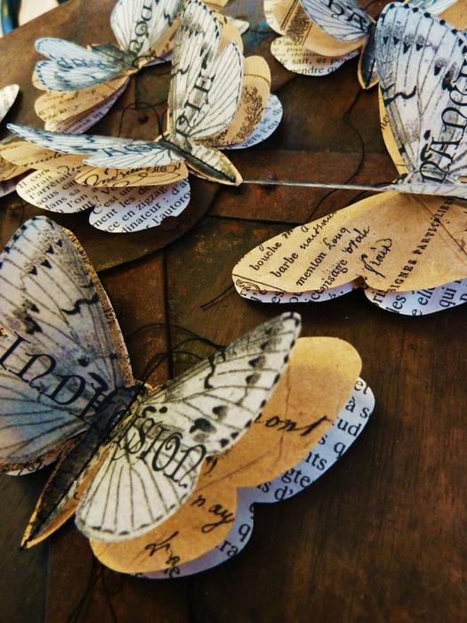 Бабочки из журнальных страниц (4) (525x700, 483Kb)