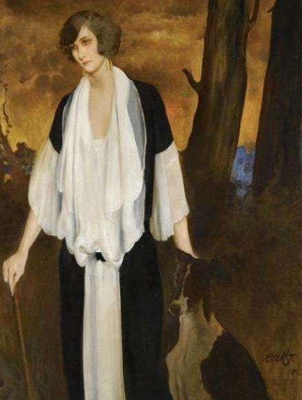 Портрет будущей графини Анри де Буажелен, 1924 (440x581, 150Kb)