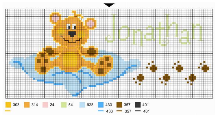 Схемы вышивки комплектов для новорожденных (3) (700x373, 320Kb)