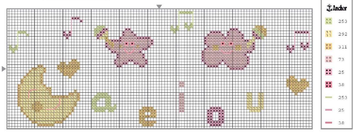 Схемы вышивки комплектов для новорожденных (10) (700x262, 281Kb)