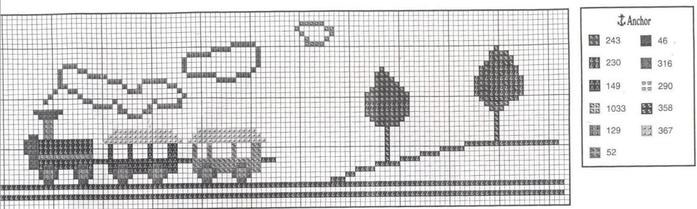 Схемы вышивки комплектов для новорожденных (12) (700x209, 210Kb)
