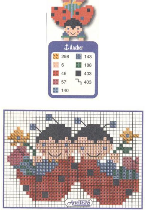 Схемы вышивки комплектов для новорожденных (16) (492x700, 385Kb)