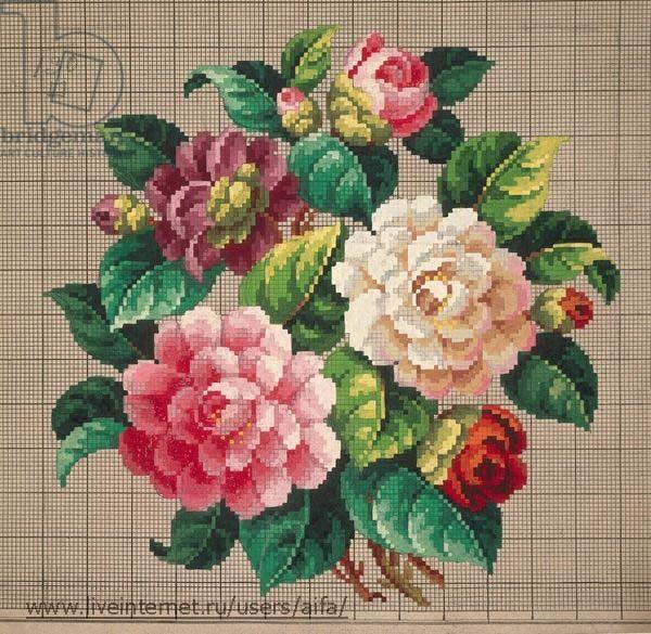 Схемы викторианских роз для вышивки