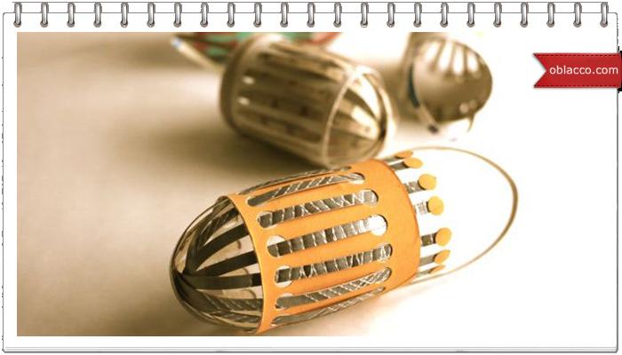 Миниатюрные корзинки для яиц к Пасхе. Мастер класс