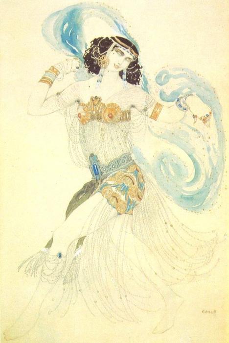 Танец семи покрывал. Эскиз костюма Саломеи к драме Оскара Уайльда Саломея, 1908. (468x700, 334Kb)