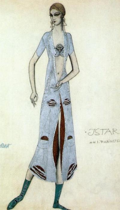 Ида Рубинштейн в роли Иштар, 1924 (400x700, 205Kb)