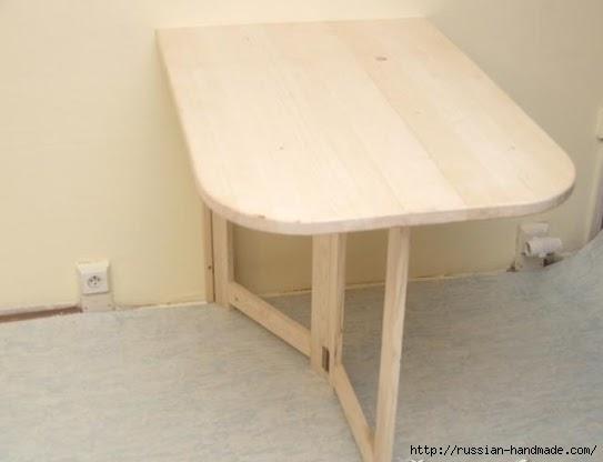 Складной столик для маленькой кухни. Своими руками (2) (543x416, 62Kb)