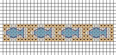Вышивка на полотенце. ДЕЛЬФИНЫ (2) (381x180, 19Kb)