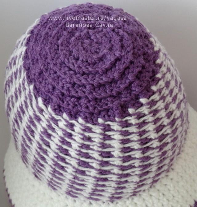 шляпка крючком от Сауле Вагаповой