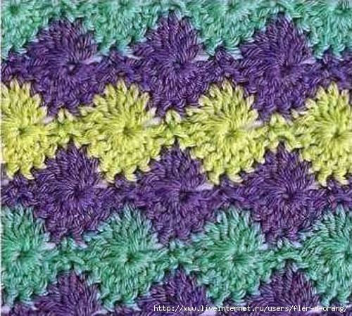 Многоцветные объемные узоры