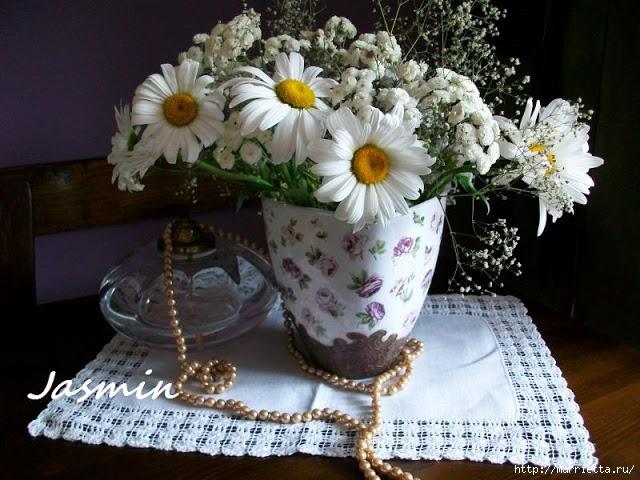 Стильная цветочная ваза из глиняного горшка (6) (640x480, 224Kb)