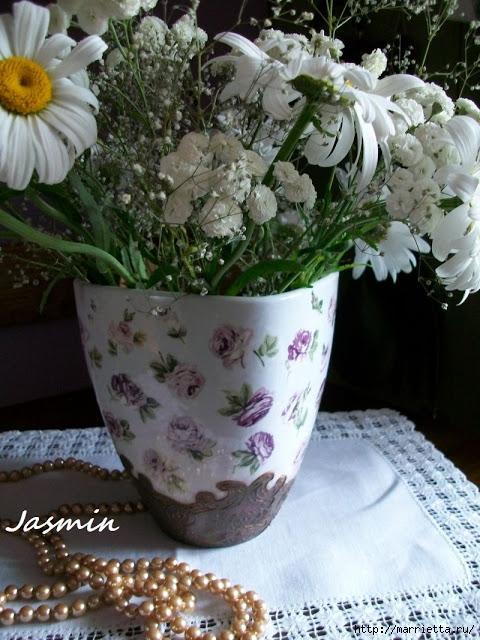 Стильная цветочная ваза из глиняного горшка (7) (480x640, 230Kb)