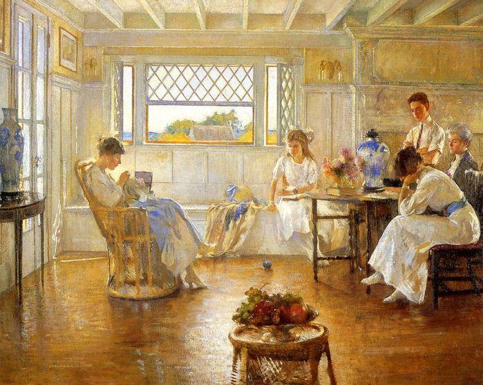 1Edmund Tarbell.Three Girls Reading1 (700x557, 101Kb)