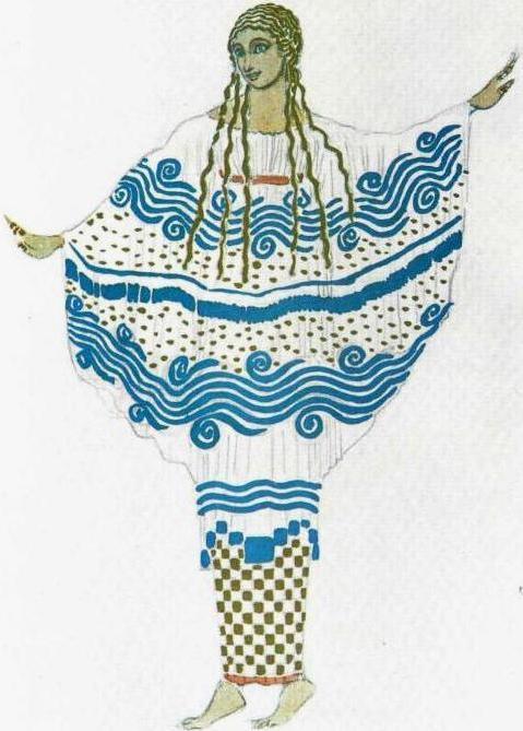 ++Эскиз костюма к балету Послеполуденный отдых фавна - Вторая Нимфа, 1912 (479x669, 51Kb)