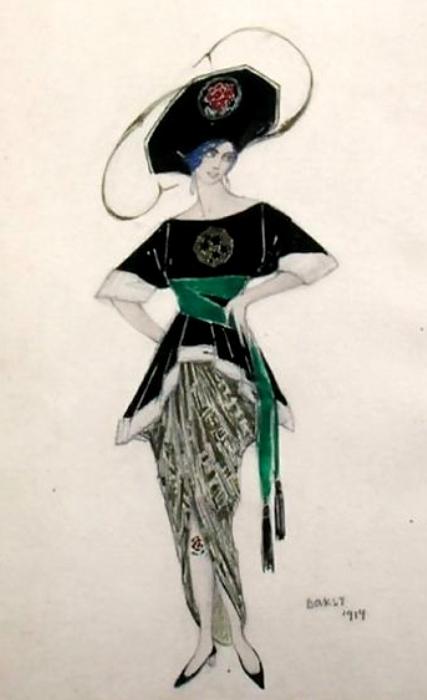 ++Эскиз костюма Этель Леви к ревю Хэлло Танго, 1914 (427x700, 166Kb)