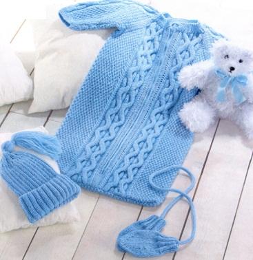 Комплект голубого цвета