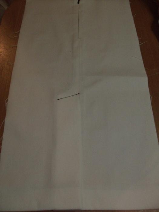 Ремонт шлицы на юбке