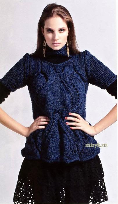 sinij-pulover-s-korotkim-rukavom (406x700, 96Kb)