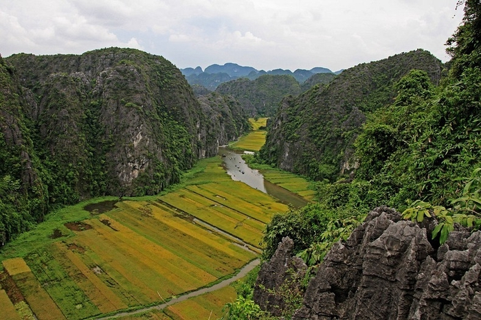 Красота гор и рисовых полей Там Кок9 (700x466, 303Kb)