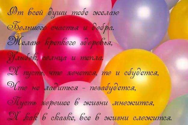Поздравление на день рождения с шариками
