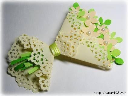 Скрап - букет с цветами