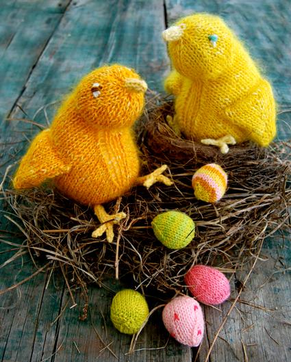 Желтые цыплятки спицами (2) (425x529, 457Kb)