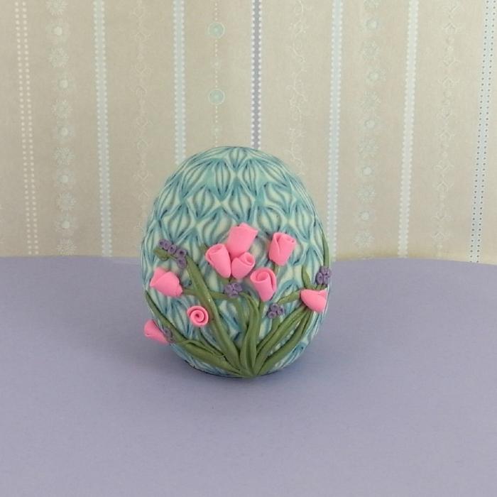 Лепка из полимерной глины. Цветочное Пасхальное яйцо (1) (700x700, 337Kb)