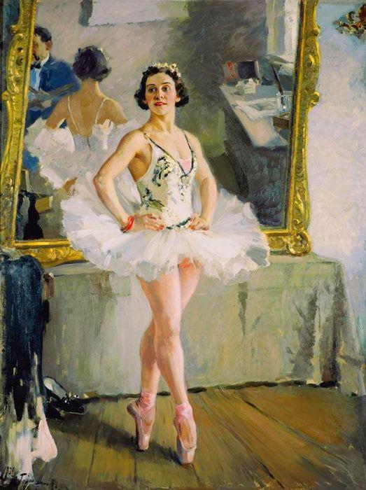 Alexander Gerasimov - Portrait of a ballerina Olga Lepeshinskaya (1939) (523x700, 69Kb)