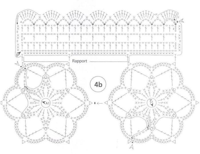 Кружево крючком для навесной полочки. Схемы (2) (700x539, 272Kb)