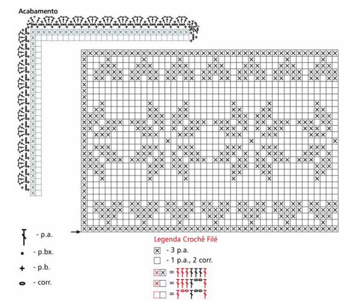 Almohadilla de la decoración del ganchillo del cordón.  Las ideas y los esquemas (1) (700x614, 379KB)