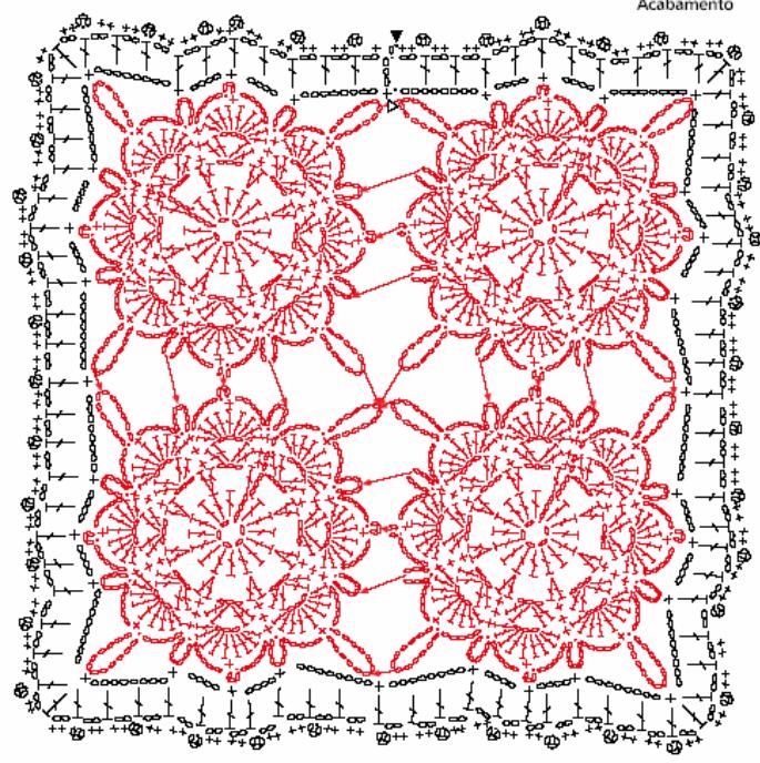 Almohadilla de la decoración del ganchillo del cordón.  Las ideas y los patrones (2) (685x688, 335KB)