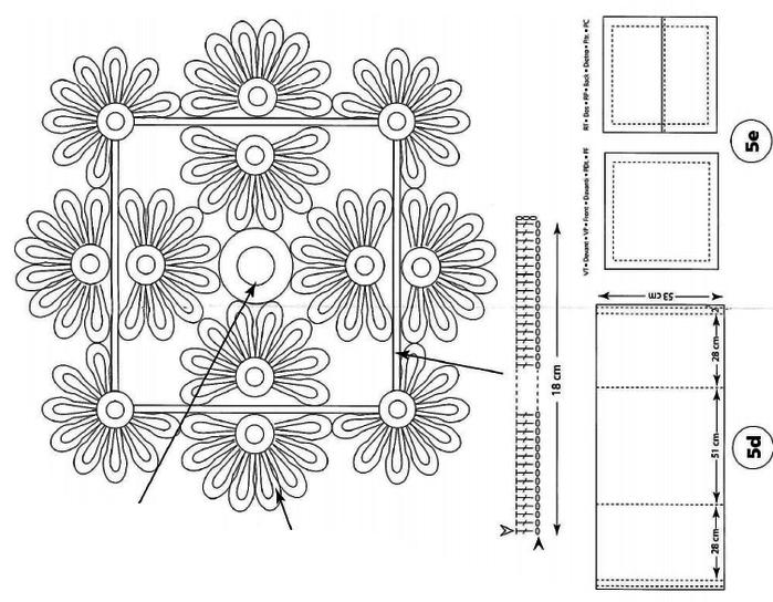 Украшение подушек кружевом крючком. Идеи и схемы (12) (700x544, 133Kb)