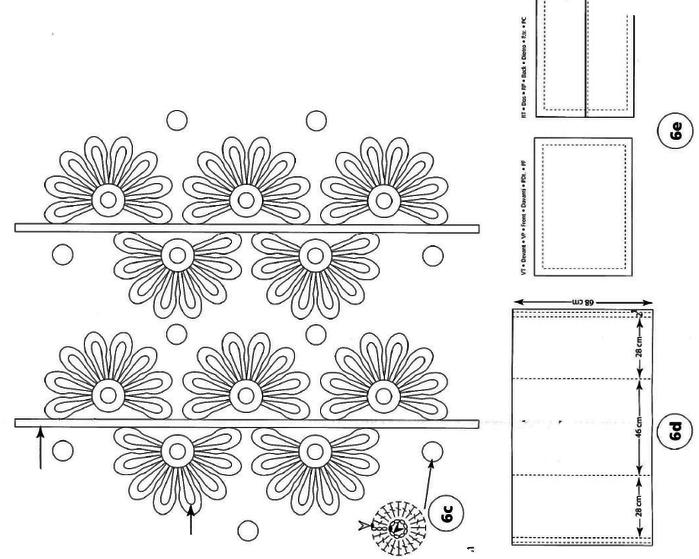Украшение подушек кружевом крючком. Идеи и схемы (14) (700x559, 106Kb)