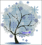 Превью Зимнее дерево (576x628, 419Kb)