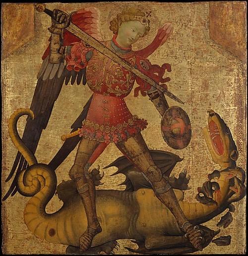 Святой Михаил и дракон, 15 век (500x516, 116Kb)