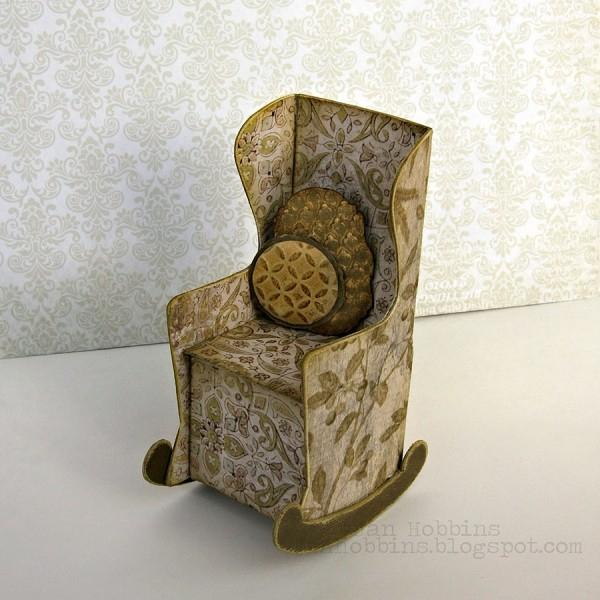 Скрапбукинг. Кресло-качалка из бумаги (7) (600x600, 275Kb)