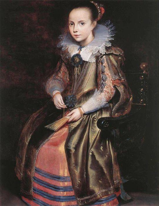 1Cornelis de Vos.Elisabeth (or Cornelia) Vekemans as a Young Girl, c. 1625 (541x700, 66Kb)