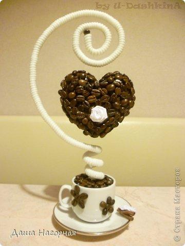 Топиарий из кофейных зерен сердце своими руками пошаговое фото