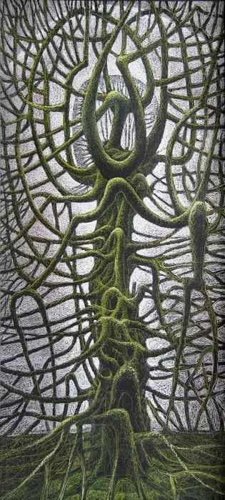 Одинокое дерево. (315x700, 287Kb)