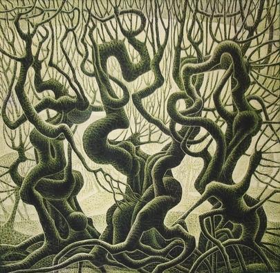 Сюрровые деревья-змеи (405x395, 252Kb)