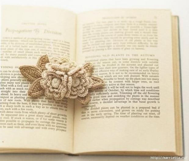 Ирландское кружево. Букетик цветов крючком (1) (619x526, 157Kb)