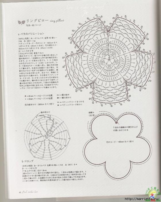 Ирландское кружево. Букетик цветов крючком (10) (560x700, 296Kb)